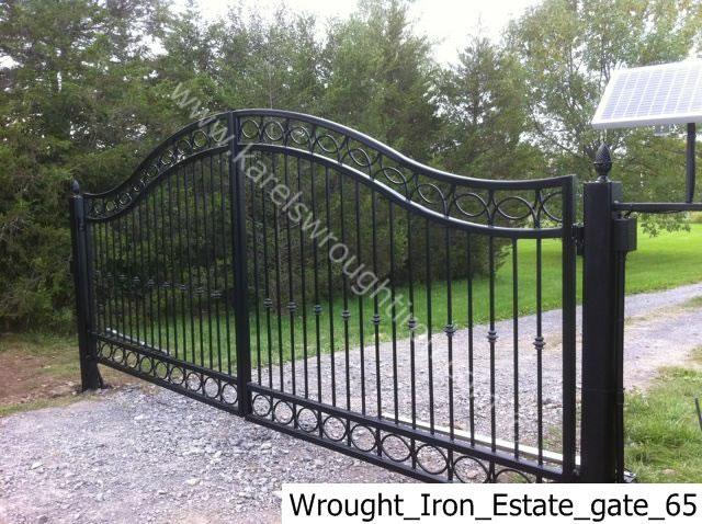 Iron gates driveway wrought
