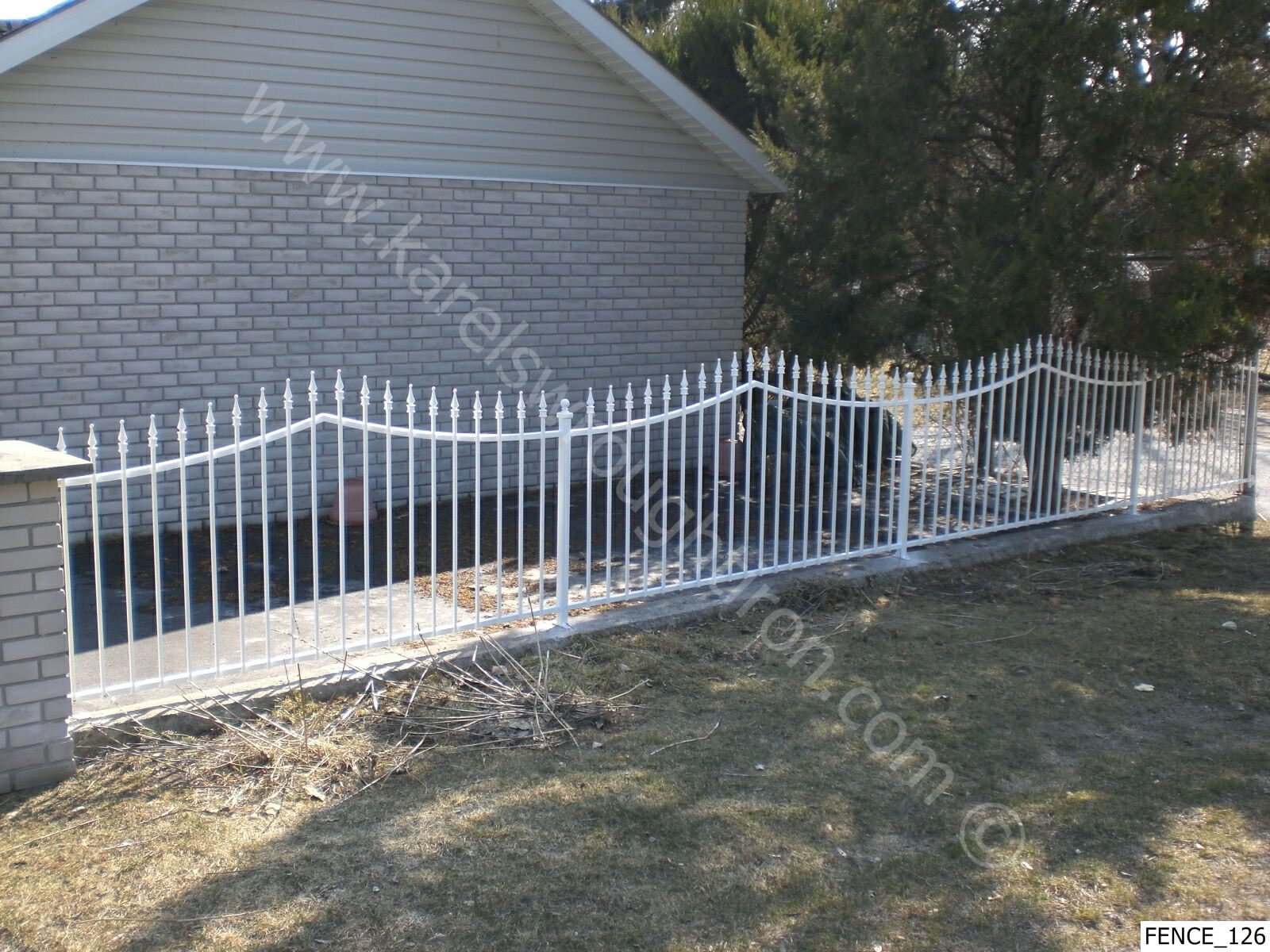 wallpaper iron fence - photo #15