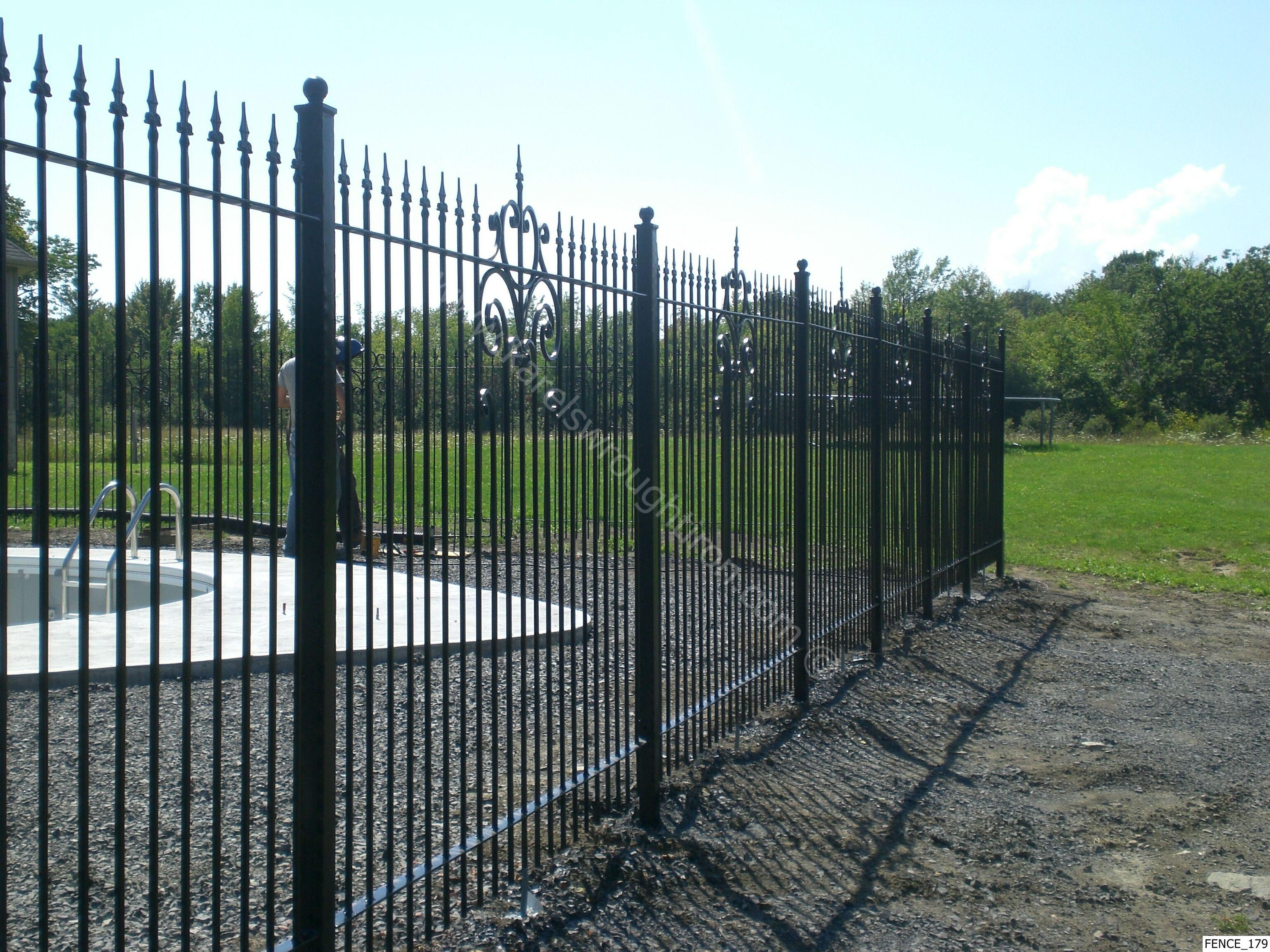 Wrought iron fence depot autos post