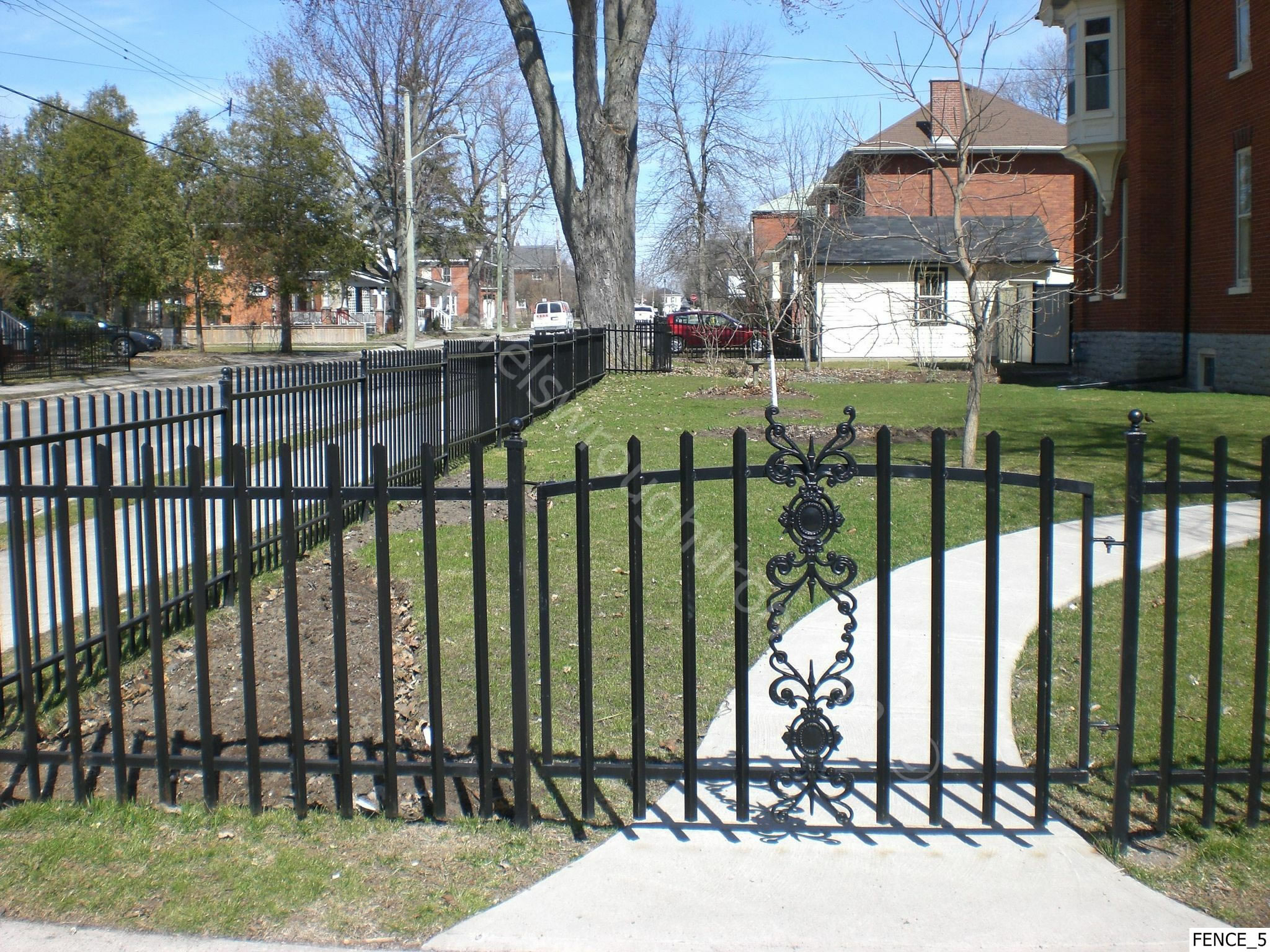 Iron gates fencing and