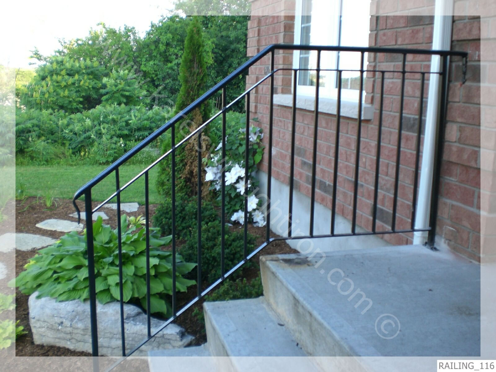 Outdoor iron stair railing - Iron Stair Railings